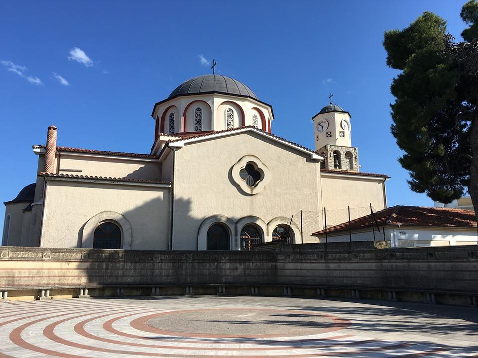 Greece, Kavala, The Old Town, Church, Landmark