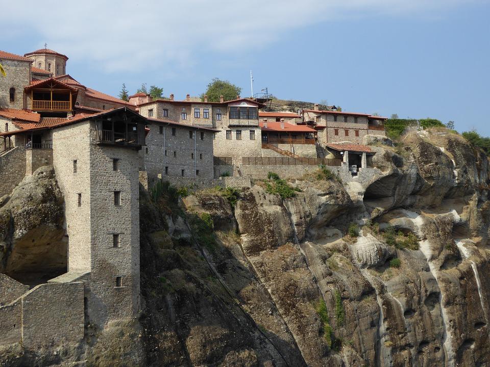 Monastery, Large Monastery, Meteora, Greece