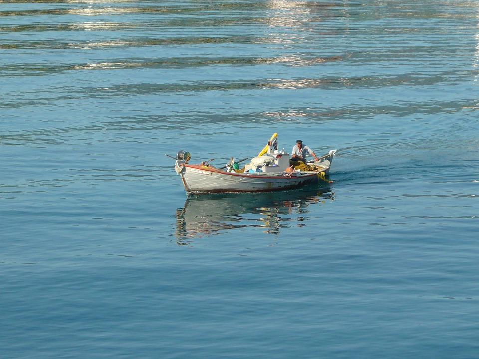 Sea, Boat, Fisher, Greece, Water, Man