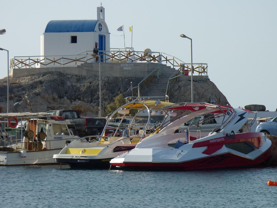 Greece, Port, Ships, Sea, Holiday
