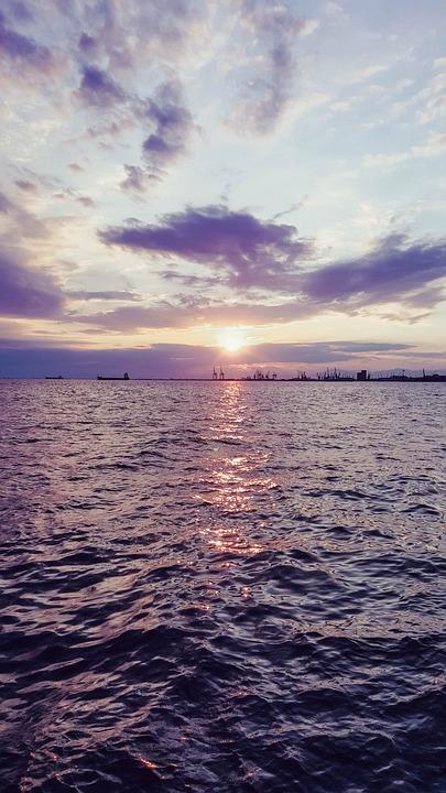 Sea, Sky, Sunset, Water, Greece, Romantic
