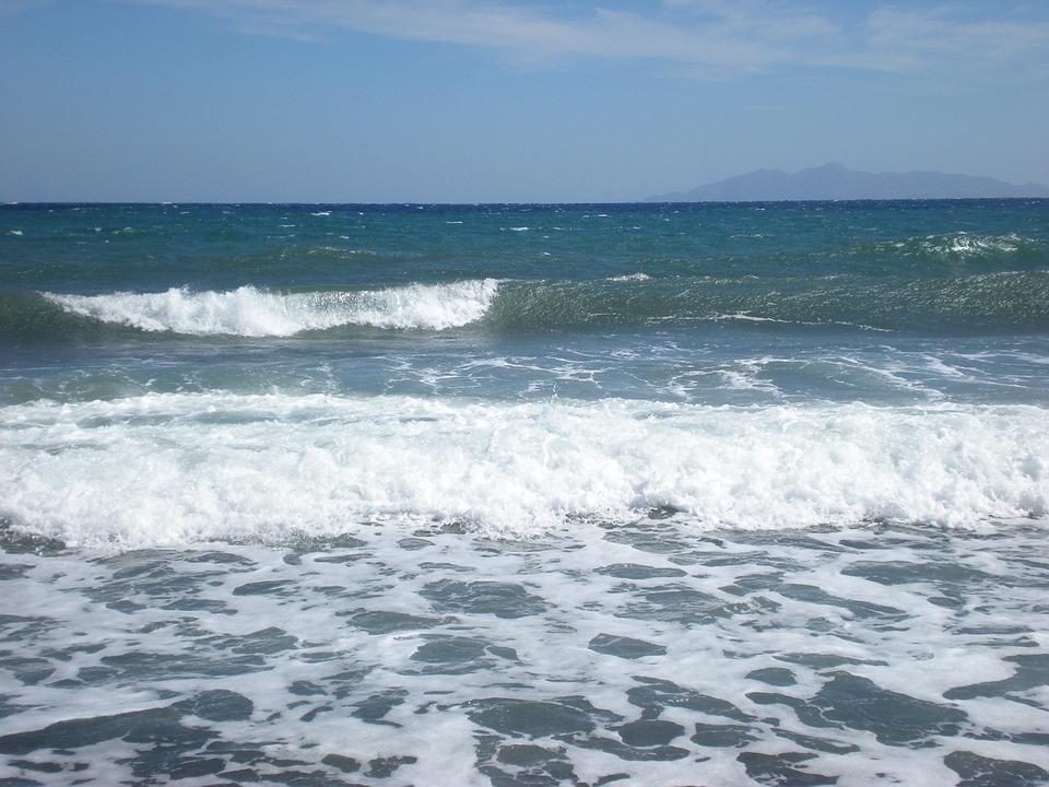 Santorini, Greek Island, Greece, Waves