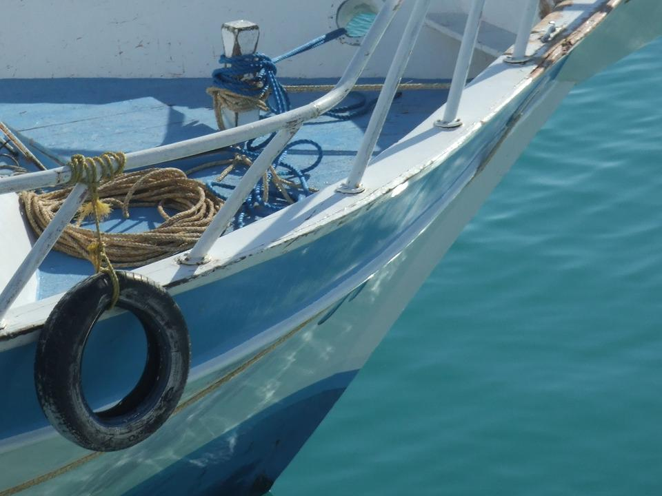 Boat, Sea, Blue, Reflection, Ripples, Summer, Greece