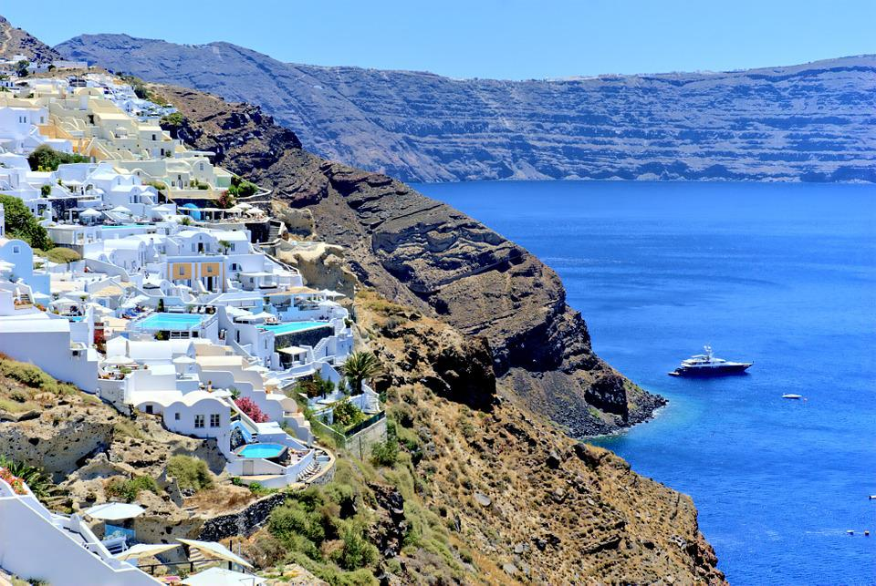 Greece, Santorini, Beach, The Sun, Holidays, Summer