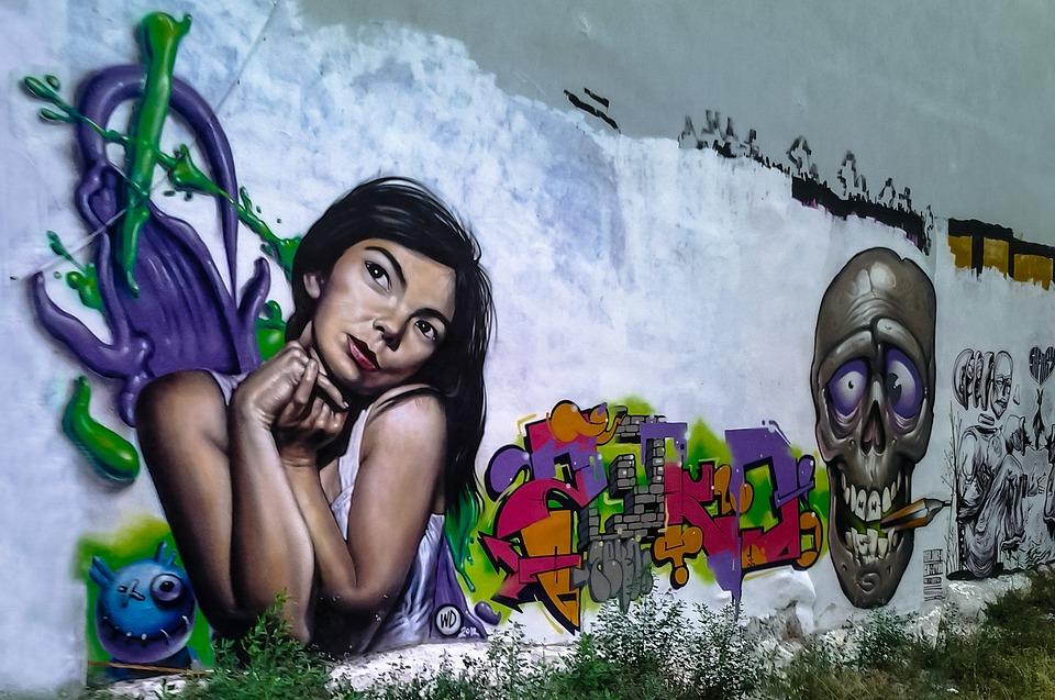 Graffiti, Greece, Thessaloniki, Björk, Wall