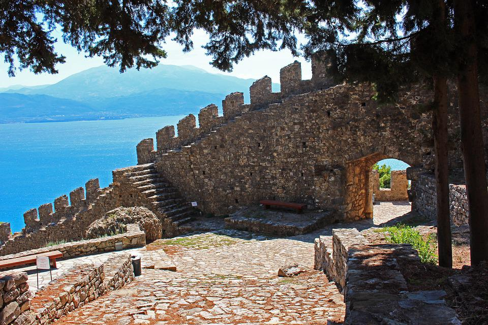 Greece, Nafpaktos, Tourism, Fortress, Stone Wall