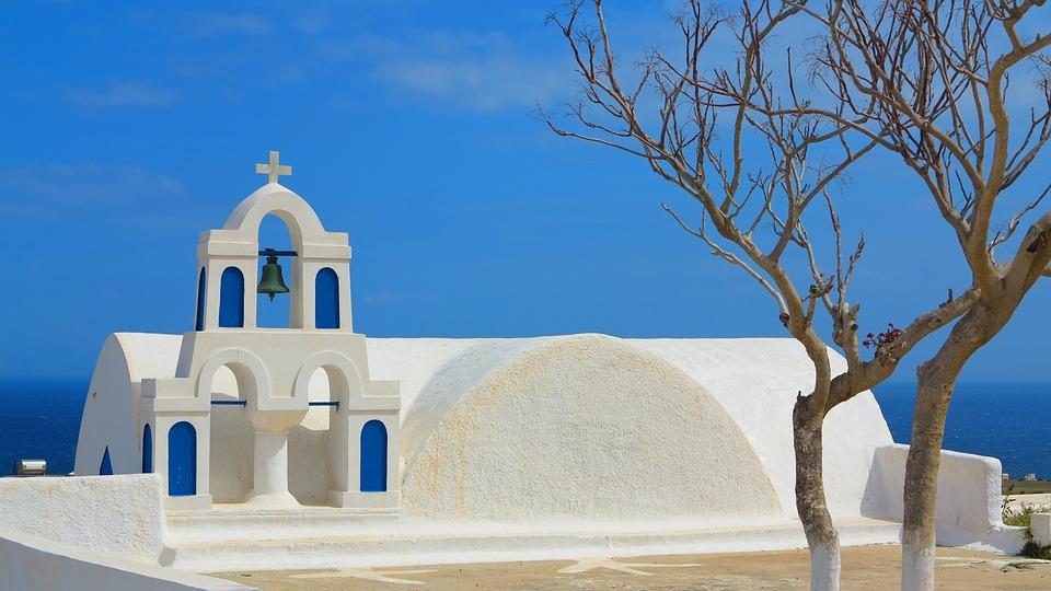 Santorini, Greece, White Houses