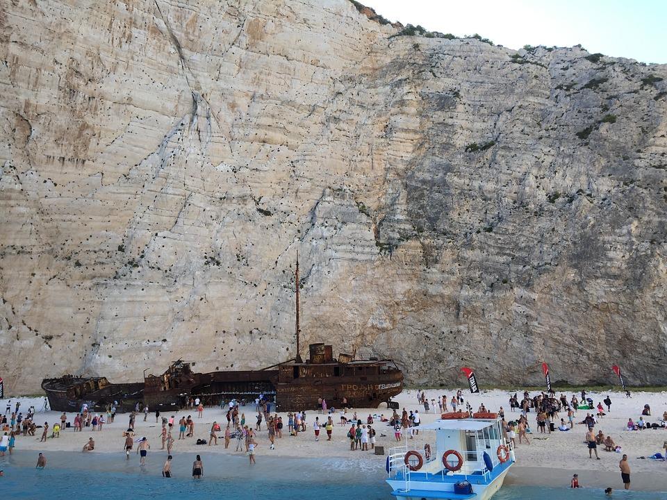 Greece, Zakynthos, Navagio, Shipwreck