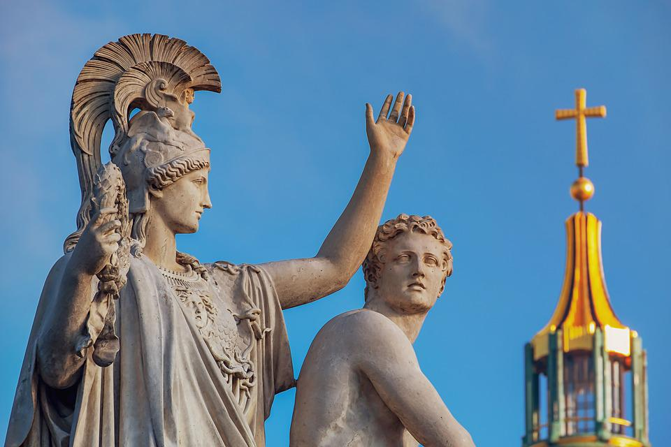 Monument, Sculpture, Greek Gods Figures, Artwork
