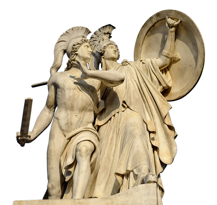 Monument, Protected, Greek Gods Figures, Held, Attacks