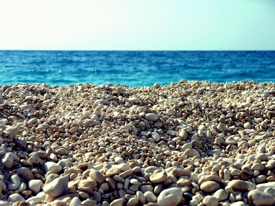 Sea, Gravel, Ocean, Part, Greek Island, Beach