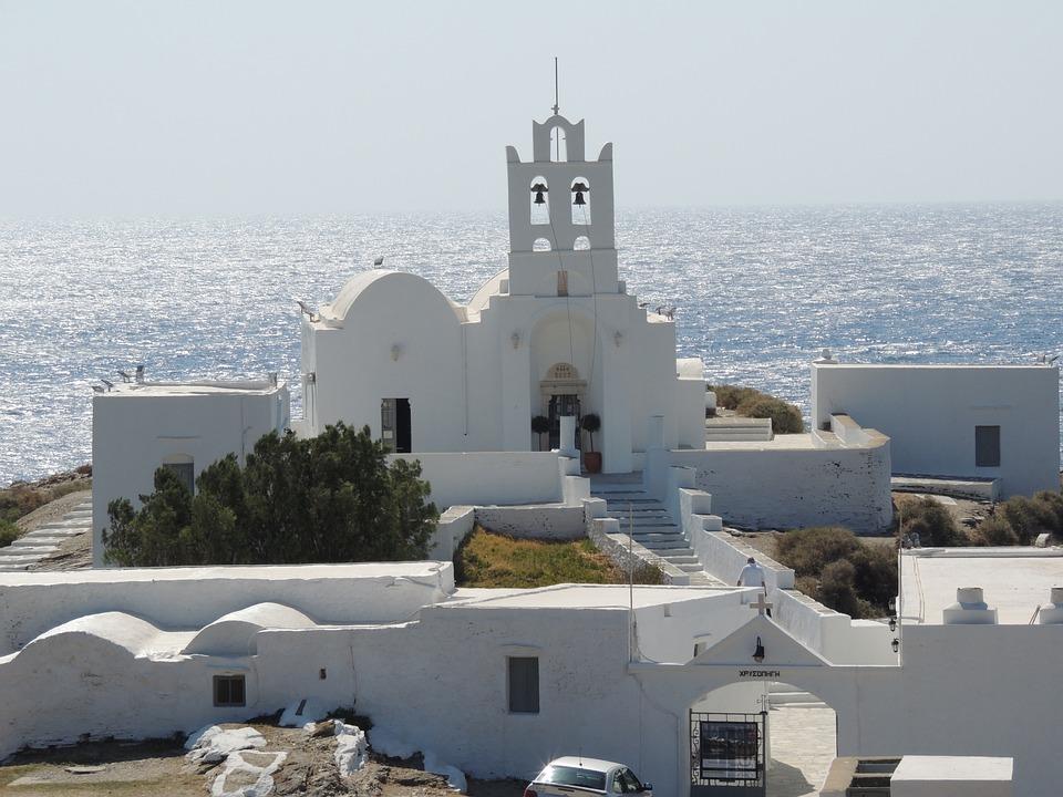 Chrisopigi Monastery, Monastery, Greek, Island, Sifnos
