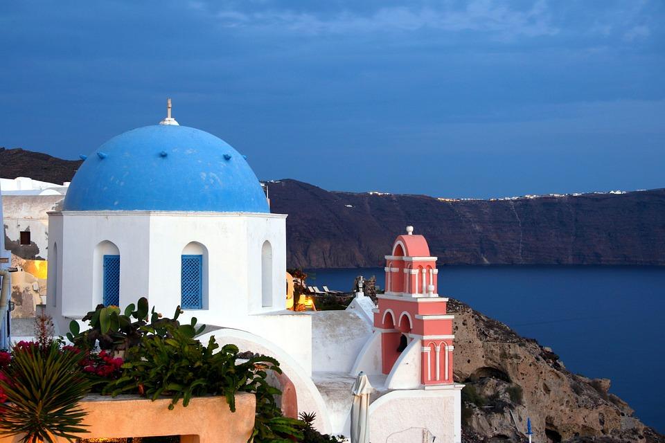 Santorini, Cyclades, White Houses, Greek Island