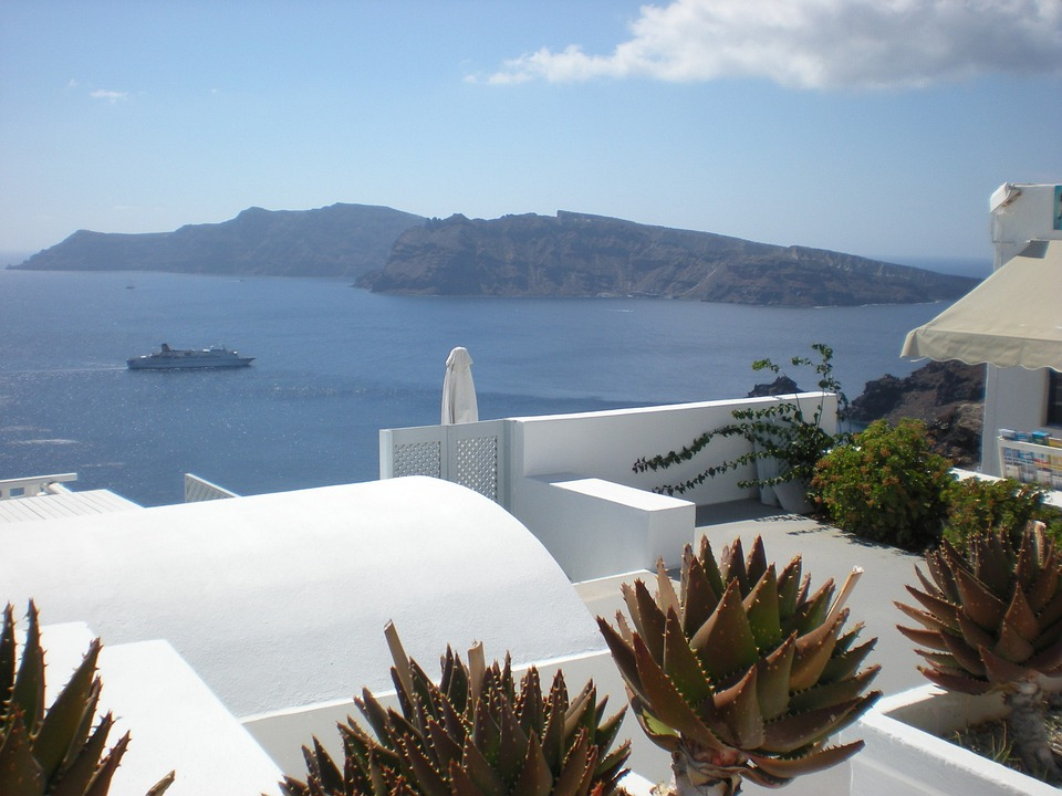 Santorini, Greek Island, Greece, Marine, Flowers