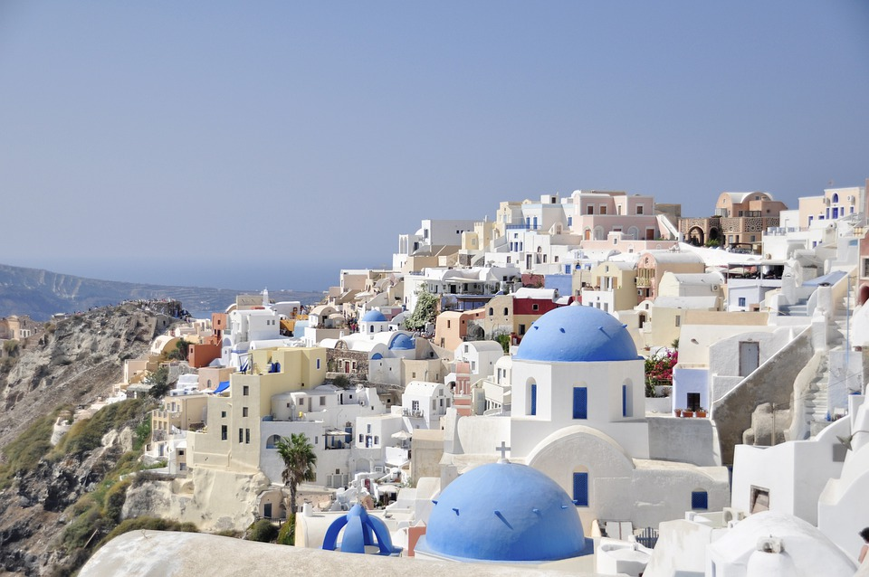 Santorini, View, Greek Island, Greece, Blue