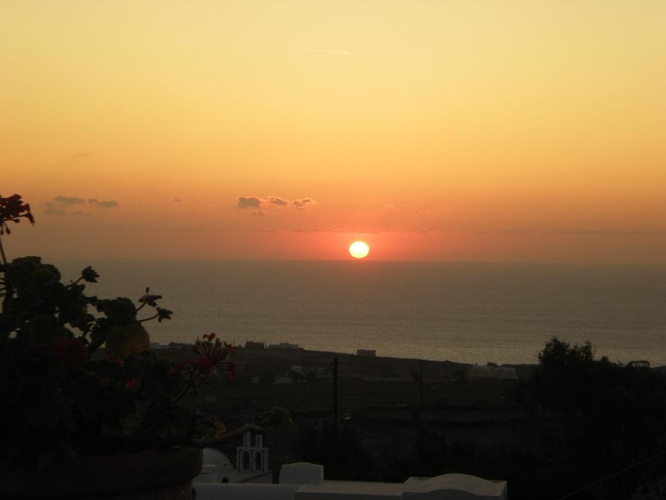 Santorini, Greek Island, Greece, Sunset