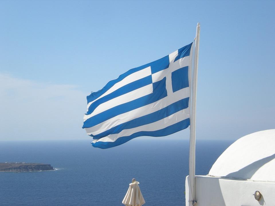Santorini, Greek Island, Greece, Marine, Flag, Oia