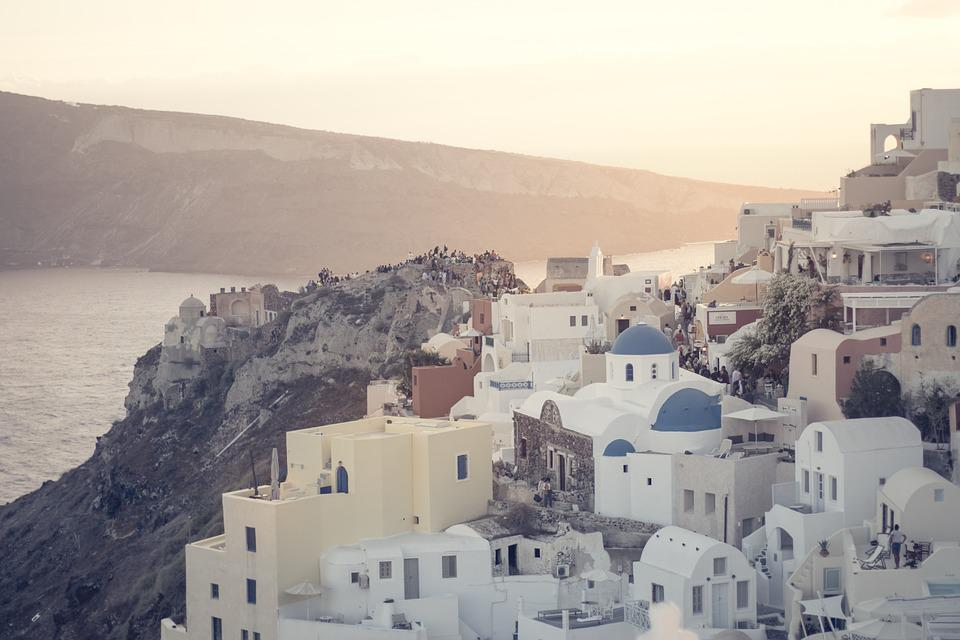 Sunset, Santorini, Greece, Greek Islands, Travel