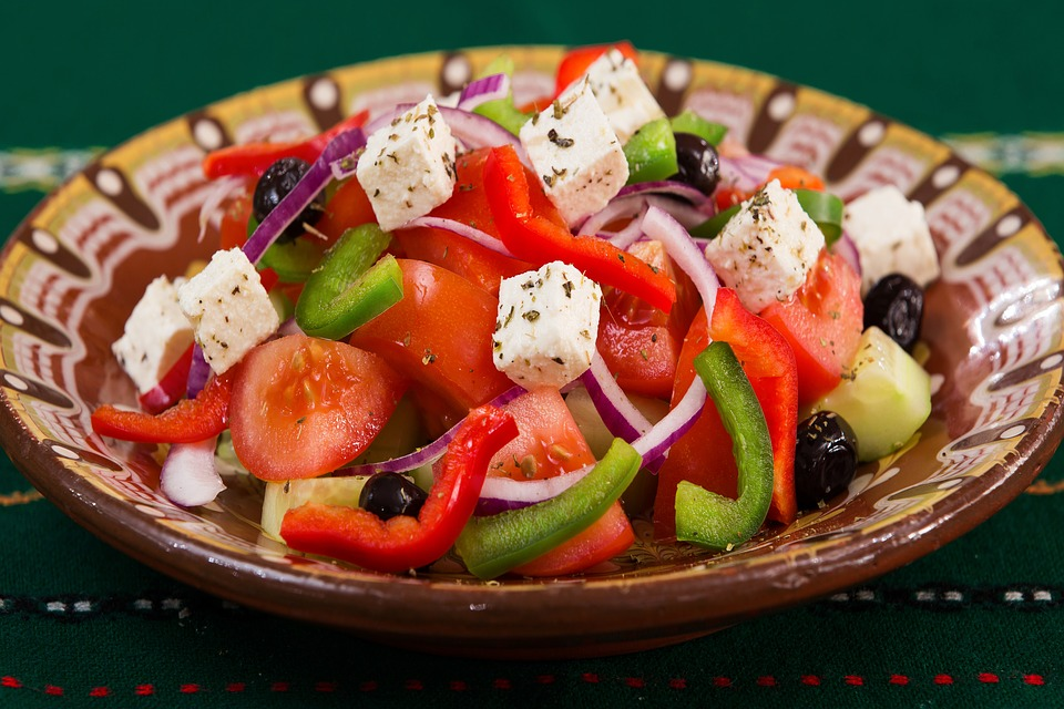 Food, Plate, Greek Salad, Caprese, Meal, Vegetables