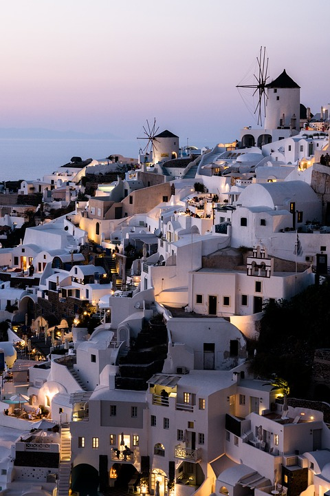 Greece, Sea, Santorini, Summer, Houses, Sea View, Greek