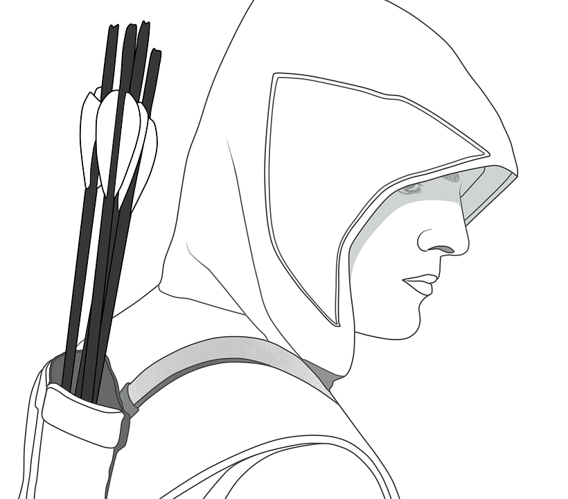 Line Art, Oliver Queen, The Hood, Sketch, Green Arrow