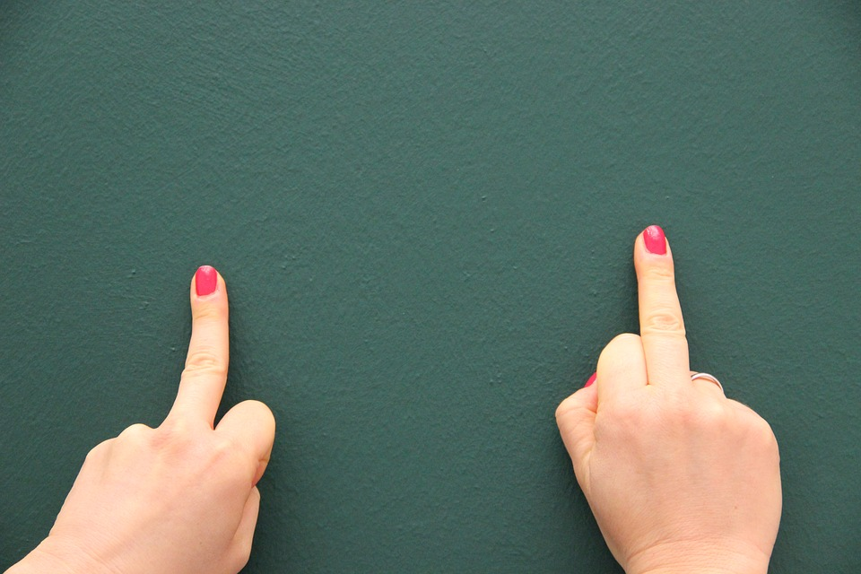 Middle Finger, Background, Green