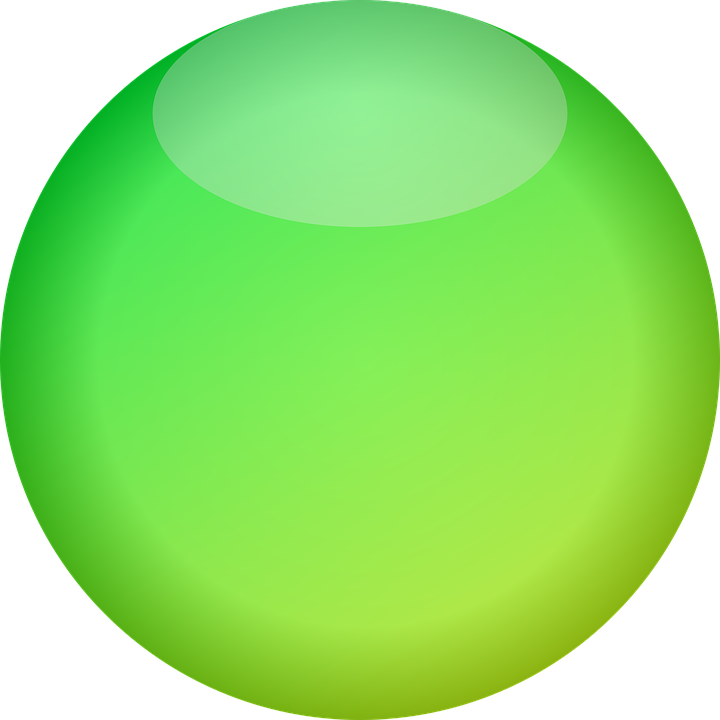 Button, Ball, Green