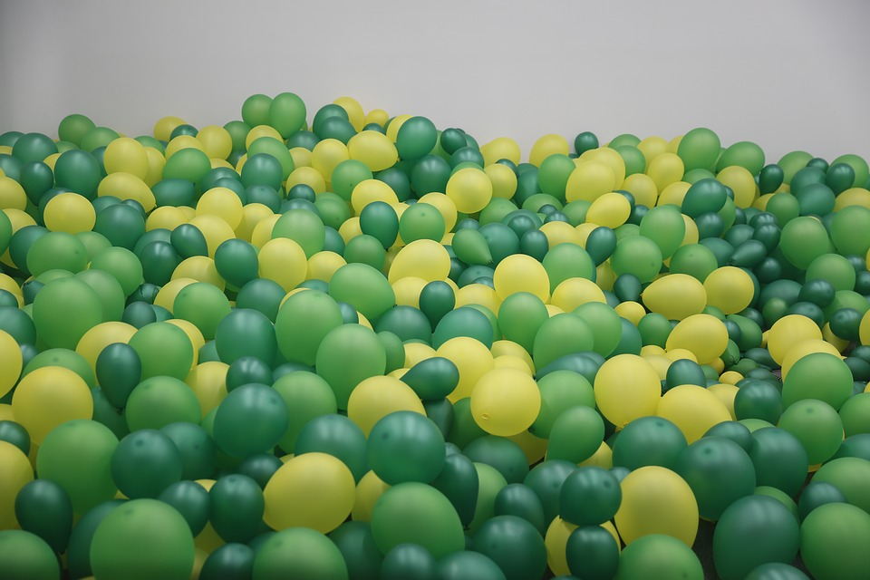 Balloon, Green, There Are A Number Of, Background
