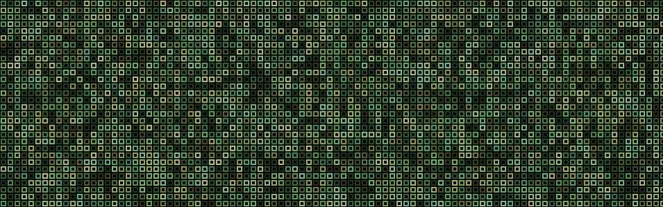 Banner, Header, Cubes, Squares, Green Banner