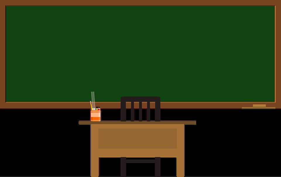 Blackboard, Green Frame, School, Green, Frame