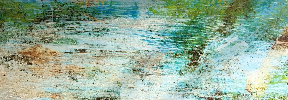 Scratched, Mediterranean, Structure, White, Green, Blue