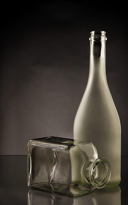 Bottles, Glass, Transparent, Cut, Green
