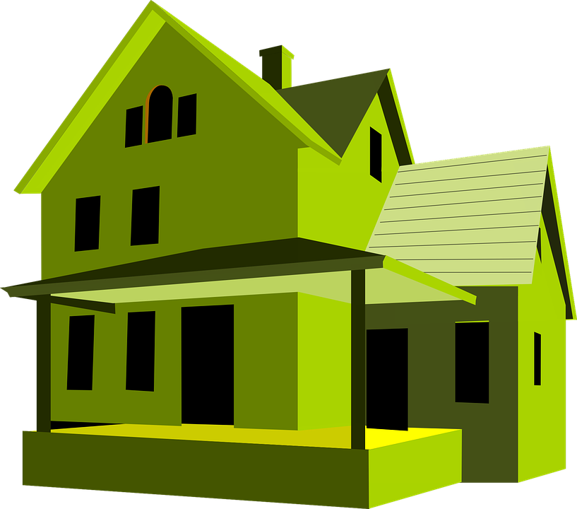 House, Green, Home, Building, Green Home, Green House