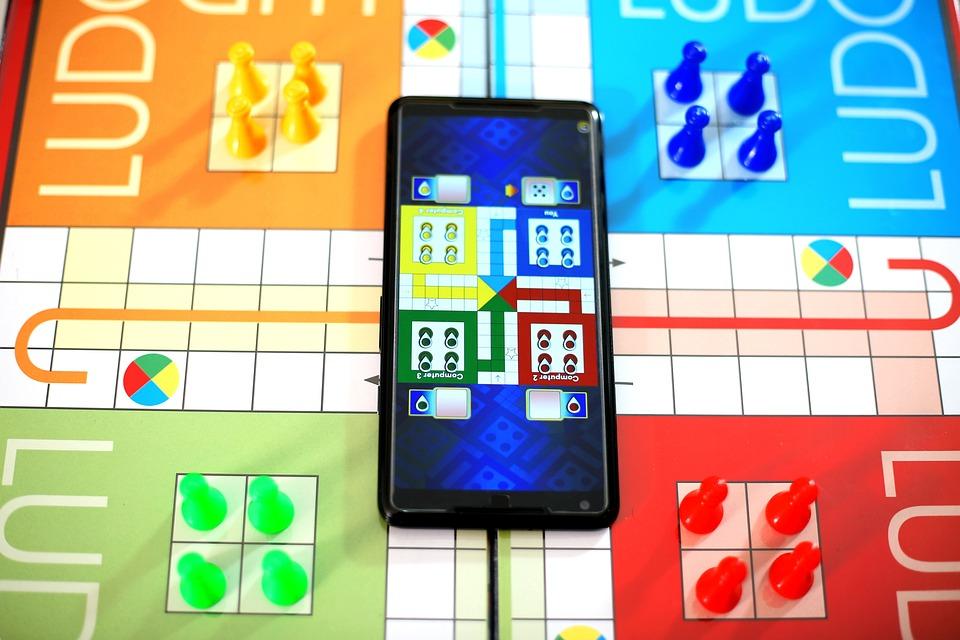 Game, Board, Ludo, Child, Dice, Blue, Green, Yellow
