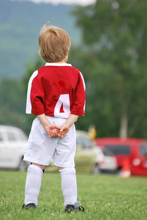 Football, Mini, Child, Children, Grass, Green