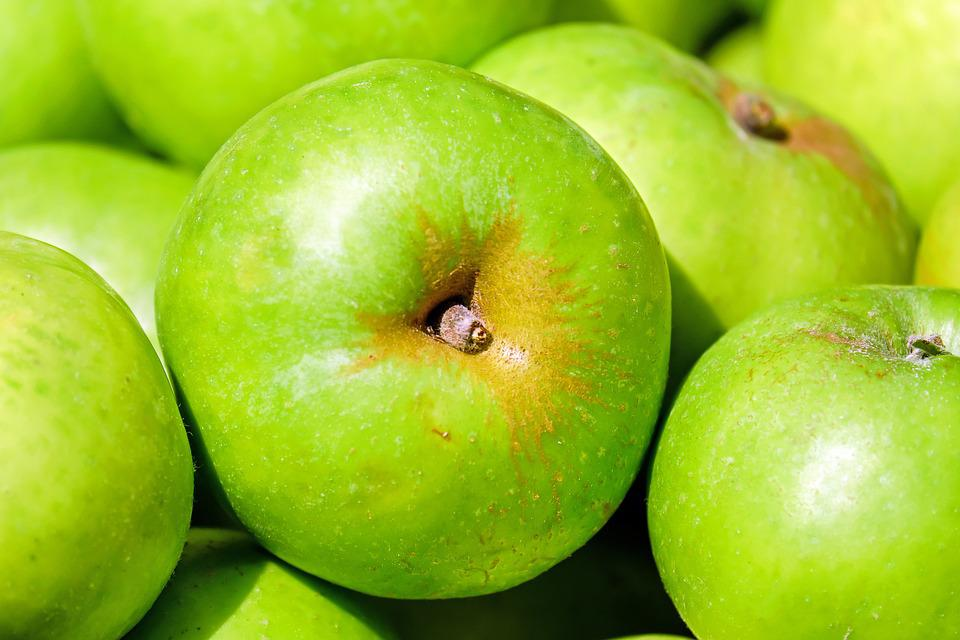 Apples, Green, Fruits, Close Up, Harvest, Produce