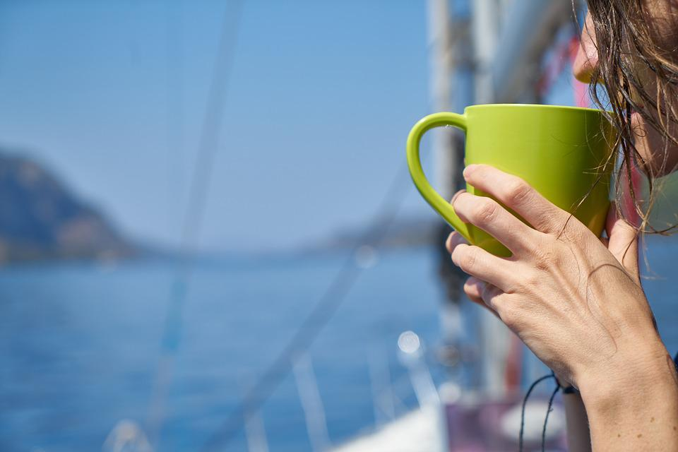 Coffee, Glass, Green, Marine, Holiday, Hands, Keep