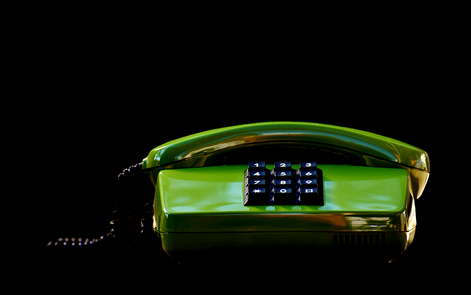 Phone, Eighties, Old, Green, Keys, Communication