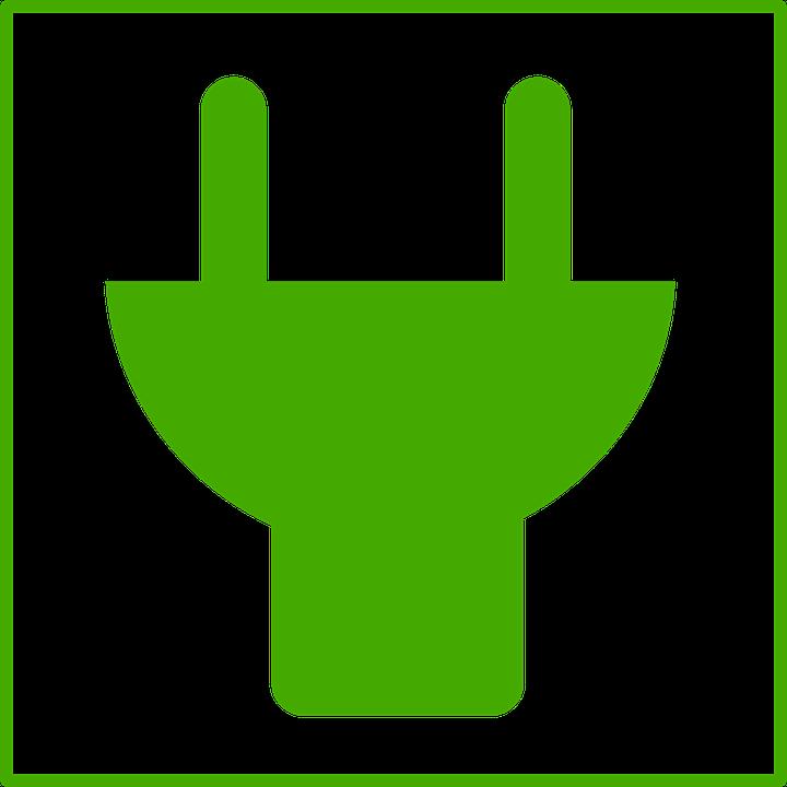 Plug, Sign, Symbol, Ecology, Energy, Green