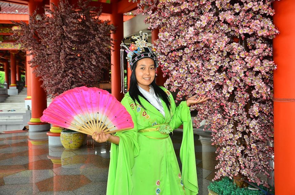 Oriental, Style, Green, Fen, Artistic, Nature, Flower