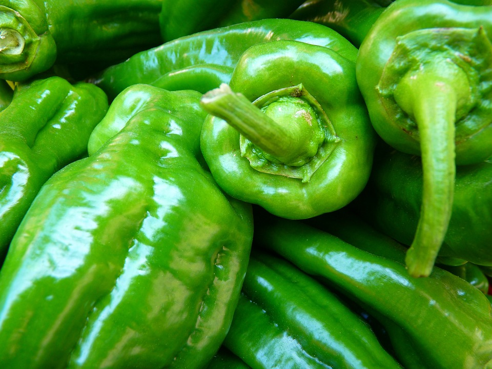 Paprika, Vegetables, Green, Food
