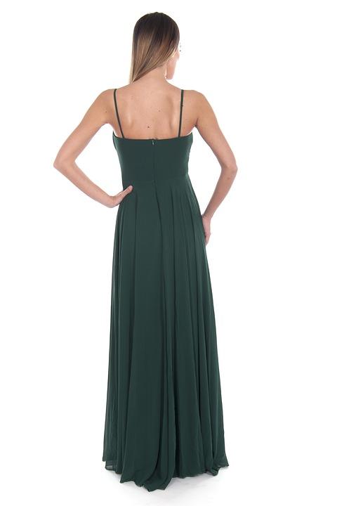 Green, Dress, Stylish, Fashion, Woman, Girl, Young