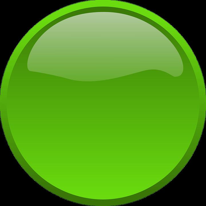 Circle, Green, Button, Ok, Go, Green Circle