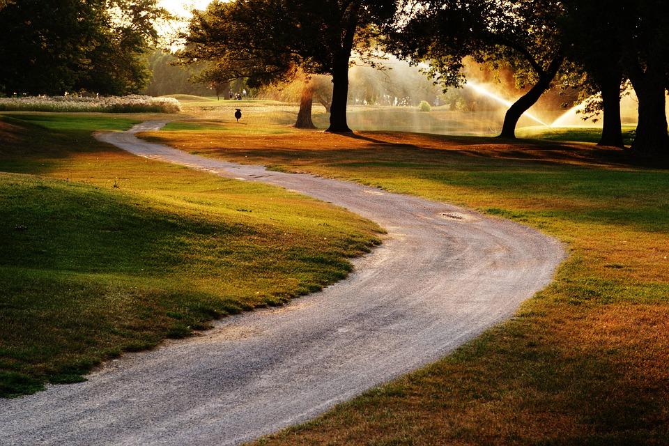 Golf, Grass, Water, Spray, Golfing, Green, Landscape