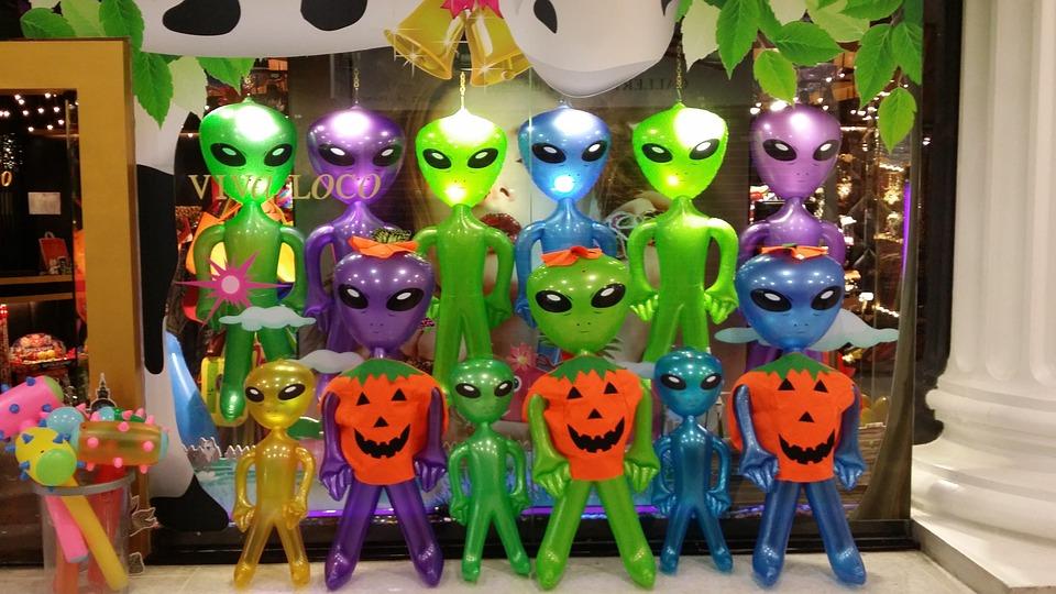 Aliens, Alien, Alie, Shopping, Green, Green Male