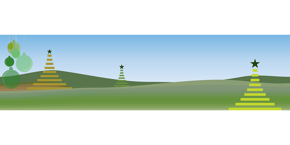 Green, Christmas, Happy Holidays, Stylized Tree