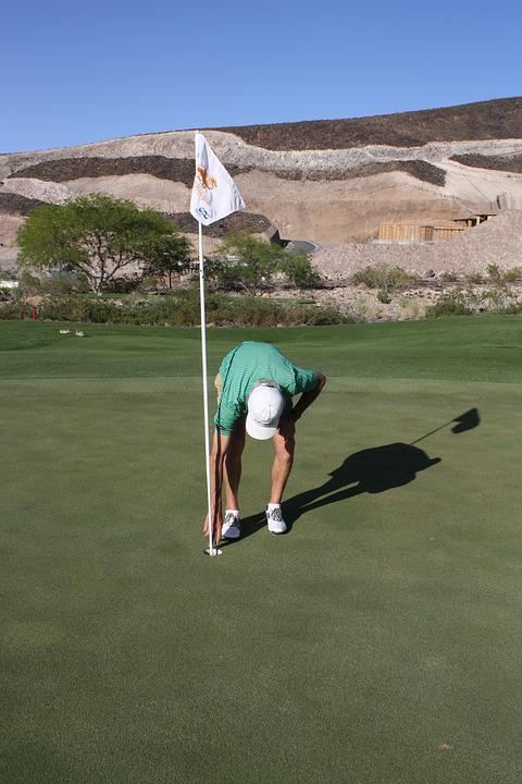 Golf, Green, Hole In One, Flag
