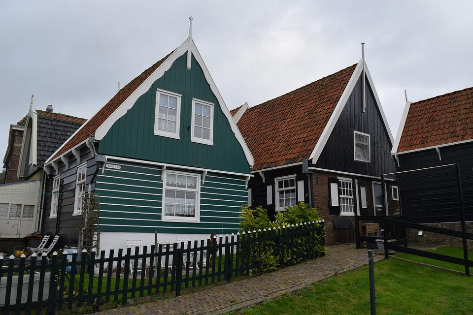 Holland, The Netherlands, House, Green House