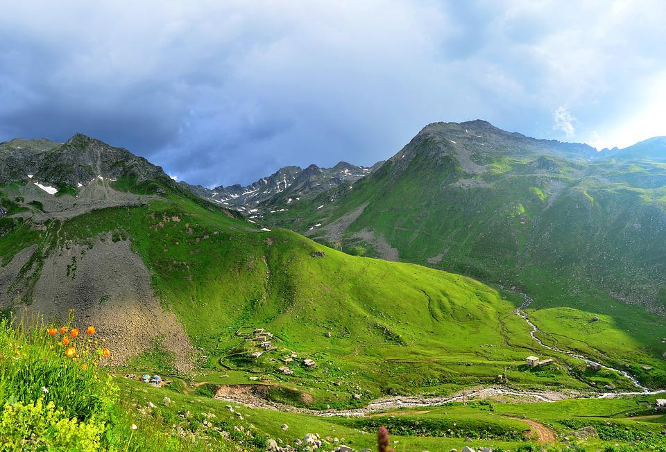 Kaçkars, From Gateway, Mountains, Clouds, Nature, Green