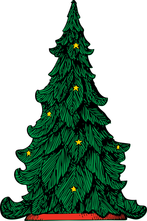 Christmas, Tree, Xmas, Green, Leaves, Decorations